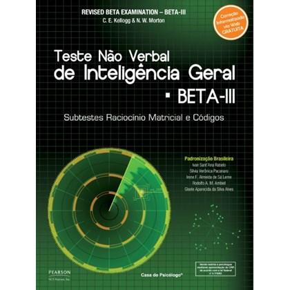 BETA III: Raciocínio Matricial - Caderno de Aplicação