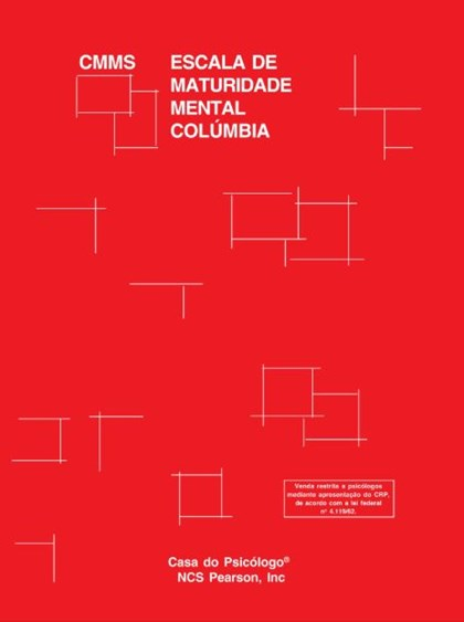 Colúmbia - Escala de maturidade mental - CMMS - Kit completo