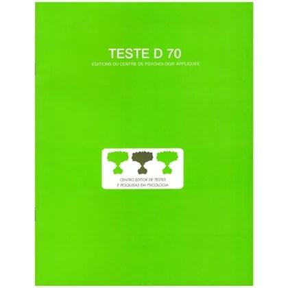 D70 - Teste de inteligência geral, não verbal - Bloco de resposta