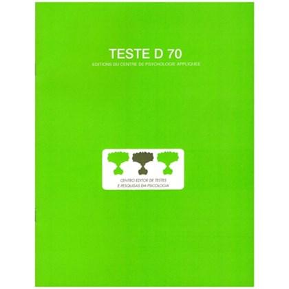 D70 - Teste de inteligência geral, não verbal - Caderno de aplicação