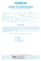 ETDAH-AD - Livro de aplicação
