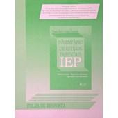 IEP – Folha de Respostas