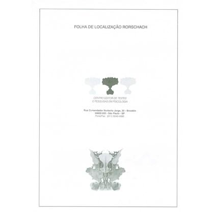 Rorschach - Folha de localização