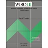 WISC III - Escala de inteligência Wechsler para crianças - Cartão branco (Plaqueta)