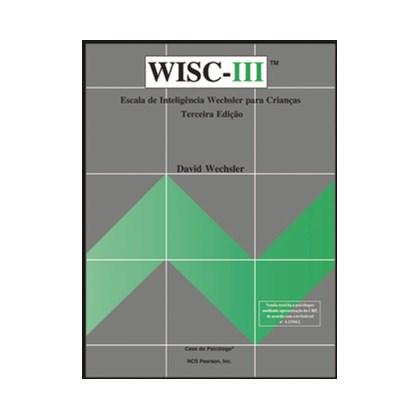 WISC III - Escala de inteligência Wechsler para crianças - Crivo códigos