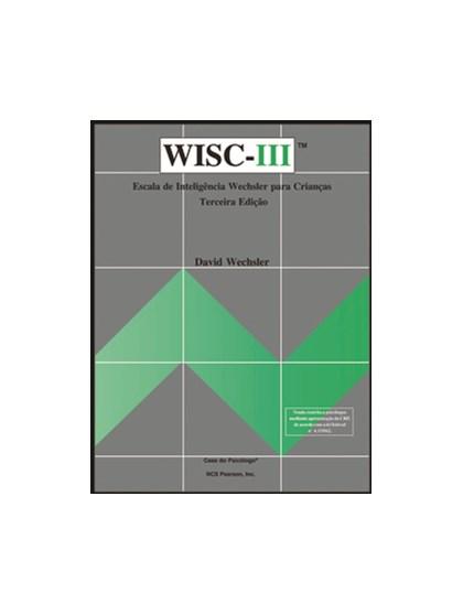 WISC III - Escala de inteligência Wechsler para crianças - Protocolo de registro geral